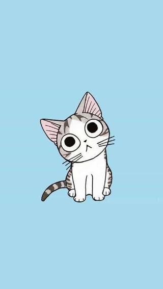 唯美插画炒鸡萌的卡通小猫咪